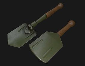 Folding Shovel Pbr 3D asset