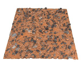 3D asset Desert stone mars