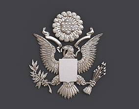 Great Seal USA eagle from 1 dollar 3D print model