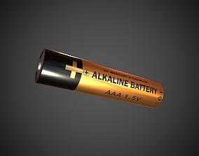 AAA Battery Alkaline Battery 3D model