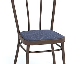 Antique bentwood chair 3D model low-poly