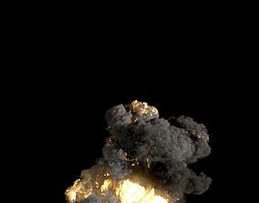3D model Volcano Explosion PhoenixFD