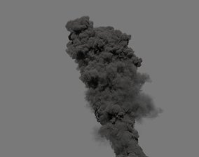 Smoke Plume 02 - VDB - LargeScale 3D