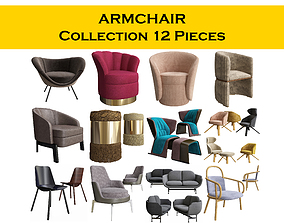 3D ARMCHAIR COLLECTION 12 pieces