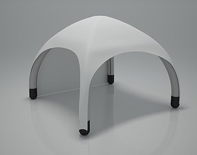 Inflatable tent 3D