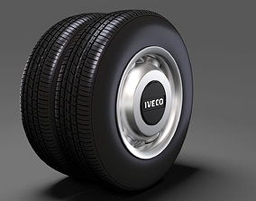 3D model Iveco Daily Minibus rear wheel 2017