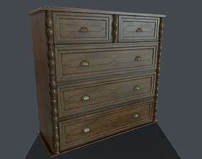 3D asset Chest of drawers PBR