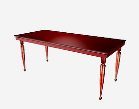 Dinning table - R series - 2 3D model