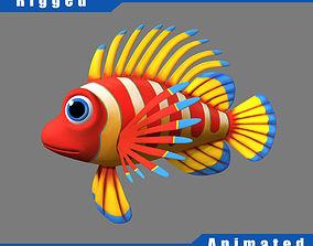 3D model Cartoon Fish04 Rigged
