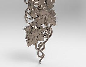 grape 3D print model art relief