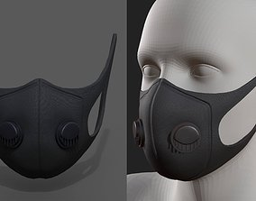 Gas mask helmet resperator helmet scifi fantasy 3D model