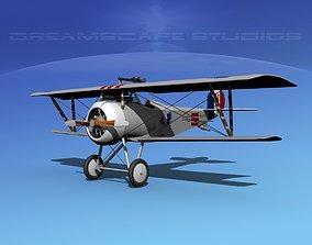 3D model Nieuport 17 Fighter V09 RAF