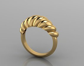 on-trend 3D printable model GOLD RING