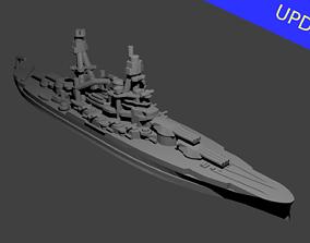 3D print model US Pennsylvania Class Battleship wwii