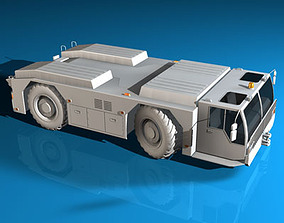 3D Airport tow tractor collection