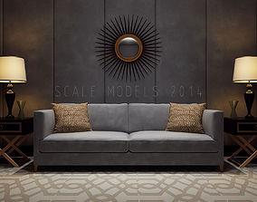 3D model Luxury Living Room 024