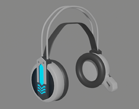 Headphone 3D asset VR / AR ready