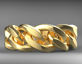 MIAMI CUBAN RING WITH 4SIZES READY TO 3D PRINTIG