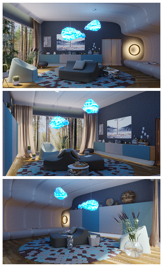 """Interior design in the style of the """"Ambient lounge"""""""