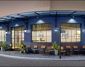Corner Coffee Shop 3D