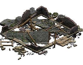 3D Building - ruins 001
