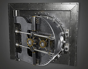 3D model BHE - Metal Bank Vault - PBR Game Ready