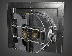 3D asset Metal Bank Vault BHE - PBR Game Ready