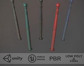 3D model Barrier Bollard Pack 1 v2 Five Color Options