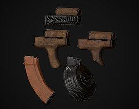 3D model AKM-AK74 Attachments Vol 01