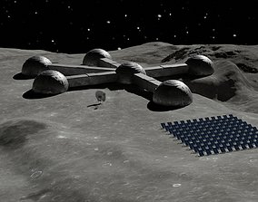 Moon base 3D model VR / AR ready