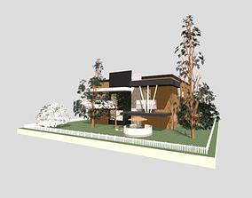 home 3D print model modern house