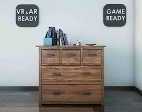 Chest of Drawer VR AR Game Ready 3D asset
