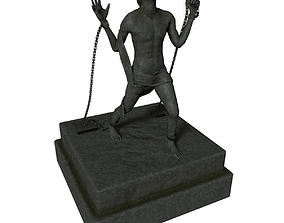 Escaping Man Statue 3D asset realtime