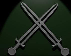 3D espada lamina dupla