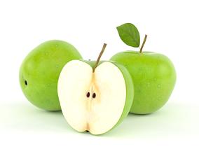 Apple 3D model fruit green