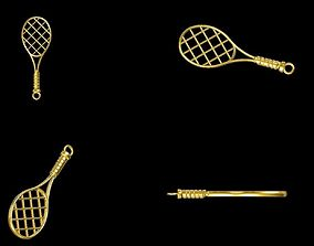 Tennis racquet pendant 3D printable model
