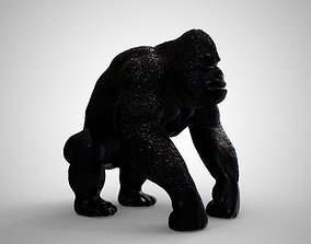 Gorilla 3D printable model angry