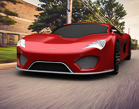 3D model Super car Concept
