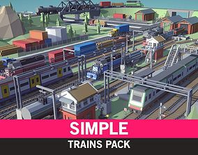Simple Trains - Cartoon Assets low-poly