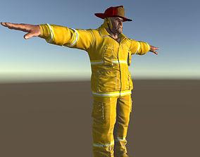 3D model Fireman