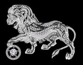3D printable model lion chanel