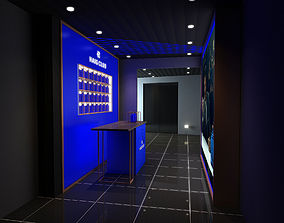 haig club bottle display backdrop 3D