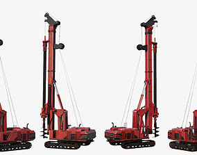 Drilling Rig Game Ready 3D model