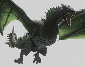 3D model Green Wyvern Dragon