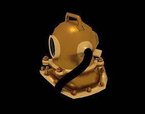 Diver Helmet 3D model