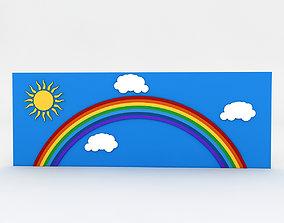 3D asset Kindergarten Wall