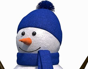 Cute Snow Man Figurine man 3D model