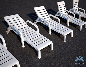 3D Poolside Chaise Lounge Chair set