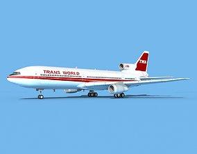 3D Lockheed L1011 Trans World 2