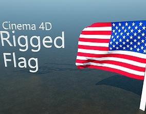 Rigged Flag 3D model